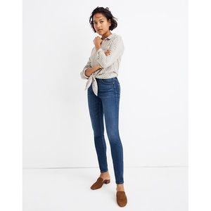 Madewell curvy high rise skinny jeans Hayes wash